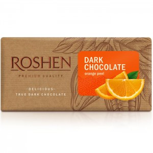 CHOCOLATEROSHENDARKWITHORANGEPEEL90g