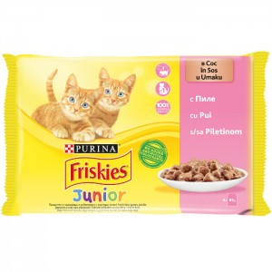 FRISKIESCATJUNIORCHICKEN4x85g