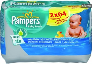 PAMPERSWIPESBABYFRESHDUO2X64pcs