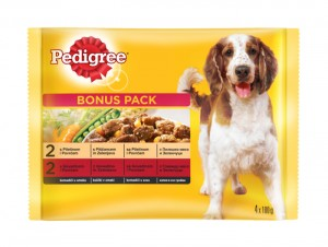 PEDIGREEPOUCHMULTIPACK4x100g