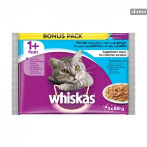 WHISKASPOUCHFISHSELECTION4x100g