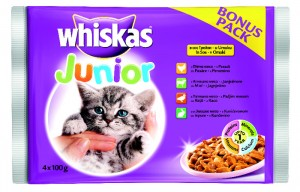 WHISKASPOUCHJUNIOR4x100g