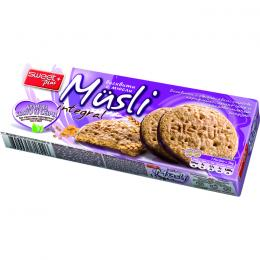 BISCUITS MUSLI INTEGRAL WITH CORN FLAKES, LINSEED AND COCOA COATING 115g