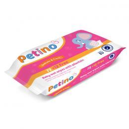 PETINO BABY WET WIPES 72+12pcs
