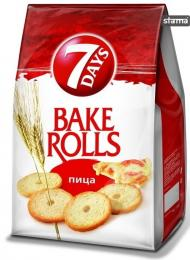 BAKE ROLLS 7 DAYS PIZZA 80g + 40% GRATIS