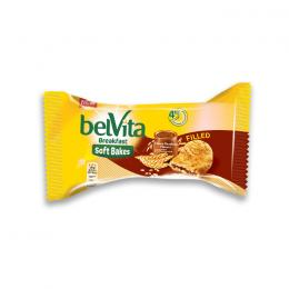 BISCUITS BELVITA SOFT BAKES FILLED CHOCOLATE HAZELNUT FLAVOUR 50g