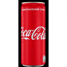 CARBONATED DRINK COCA-COLA CAN 330ml