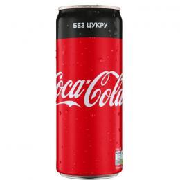 CARBONATED DRINK COCA-COLA ZERO CAN 330ml